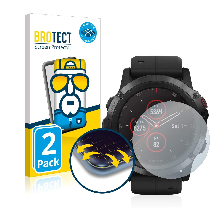Ochranná fólie BROTECT Flex Full-Cover pro Garmin fenix 5X Plus (51 mm), 2ks