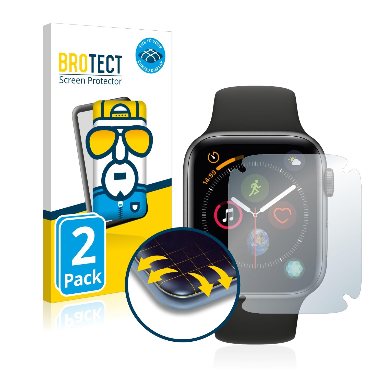 Ochranná fólie BROTECT Flex Full-Cover pro Apple Watch Series 4 (44 mm), 2ks
