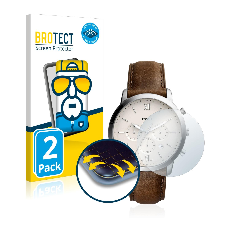 Ochranná fólie BROTECT Flex Full-Cover pro Fossil Q Neutra, 2ks