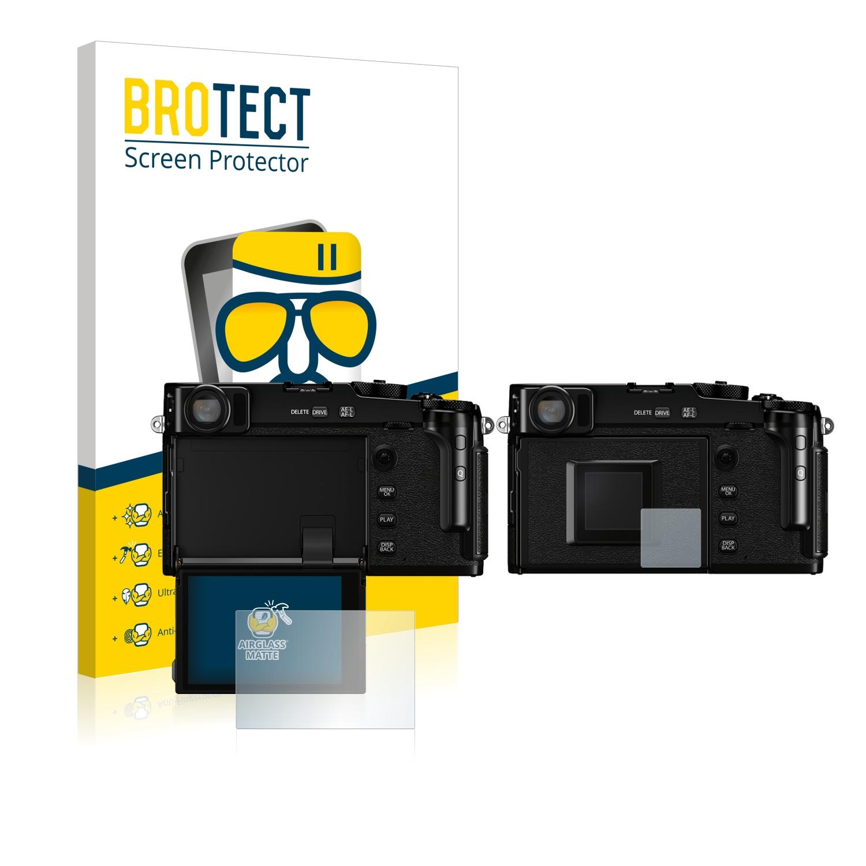 2x protezione schermo per FujiFilm FinePix HS50EXR Matte protezione Pellicola Anti
