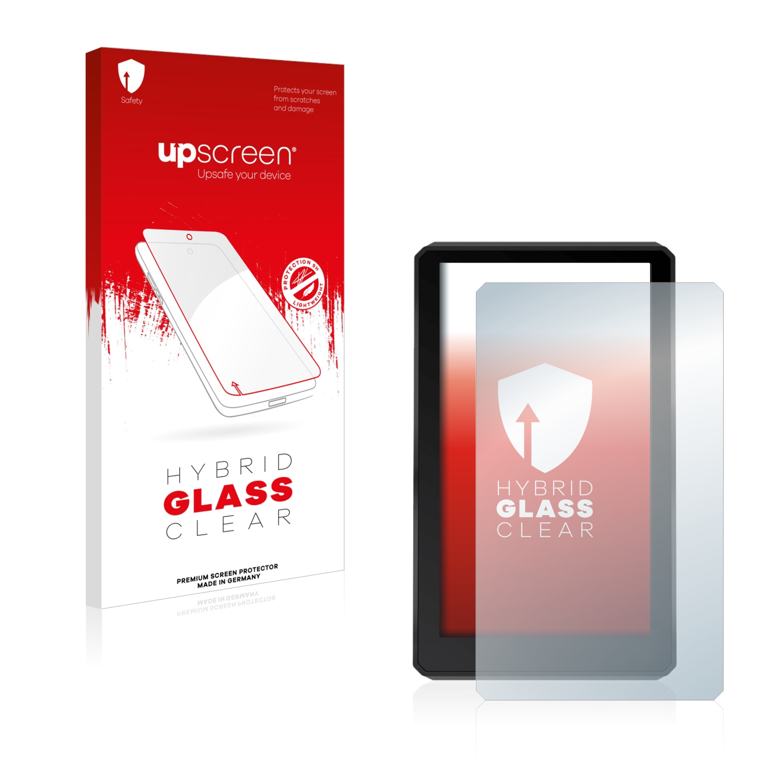 upscreen Hybrid Glass Screen Protector compatible with Garmin zumo XT 9H Glass Protection