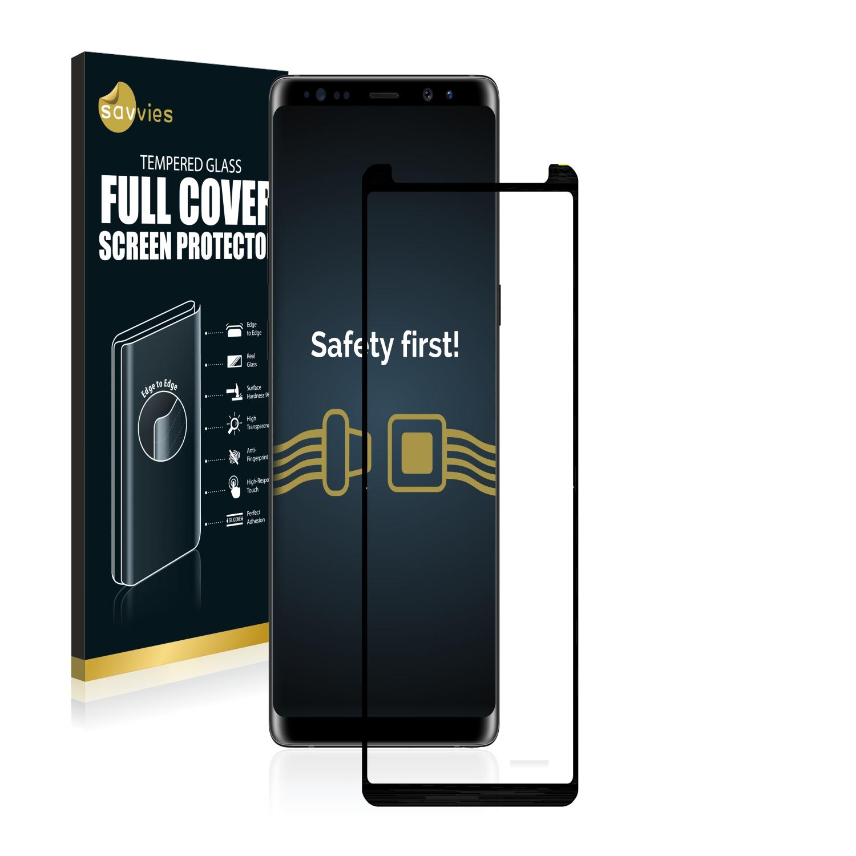 Tvrzené sklo Savvies Xtreme Glass Full Cover pro Samsung Galaxy Note 8 (Černé)